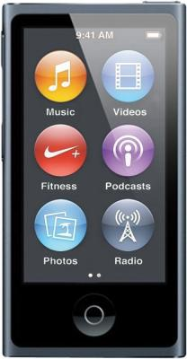 MP3-плеер Apple iPod nano 16Gb MD481QB/A (графит) - вид спереди