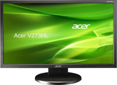 Монитор Acer V273HLAOBMID (UM.HV3EE.A01) - фронтальный вид
