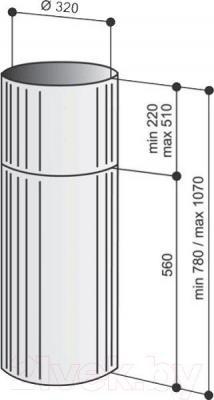 Вытяжка коробчатая Best IS ASC HC 505 32 (нержавеющая сталь) - габаритные размеры
