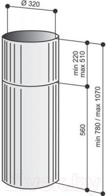 Вытяжка коробчатая Best IS ASC 505 32 (нержавеющая сталь) - габаритные размеры