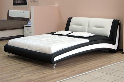 Двуспальная кровать Королевство сна Beatriche А1055 160х200 (черная) - в интерьере