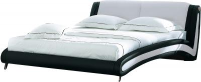 Двуспальная кровать Королевство сна Beatriche А1055 180x200 (черный) - общий вид