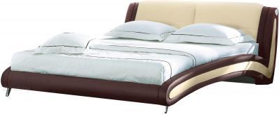 Двуспальная кровать Королевство сна Beatriche А1055 160х200 (коричневая) - общий вид