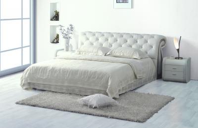 Двуспальная кровать Королевство сна K630 160х200 белая (с основанием) - в интерьере