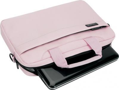 Сумка для ноутбука Targus Slim Netbook Case Pink (TSS18003EU) - общий вид с нетбуком