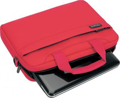 Сумка для ноутбука Targus Slim Netbook Case Red (TSS18004EU) - общий вид с нетбком