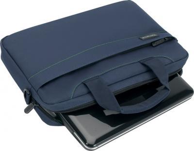 Сумка для ноутбука Targus Slim Netbook Case Blue (TSS18005EU) - общий вид с нетбуком