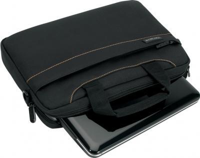 Сумка для ноутбука Targus Slim Netbook Case Black (TSS180EU) - общий вид с нетбуком