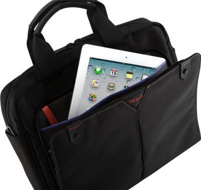 Сумка для ноутбука Targus Classic + Toploading Black (CN514EU-50) - вид изнутри с iPad