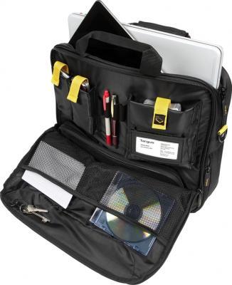 Сумка для ноутбука Targus TCG300 Black - изнутри первый карман