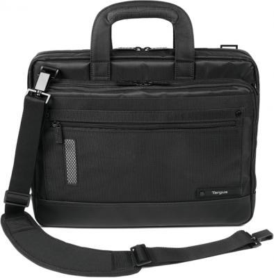 Сумка для ноутбука Targus Revolution Toploading Case Black (TTL316EU-50) - фронтальный вид с наплечным ремнем