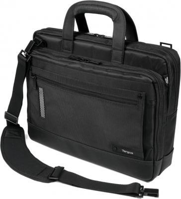Сумка для ноутбука Targus Revolution Toploading Case Black (TTL316EU-50) - общий вид с наплечным ремнем