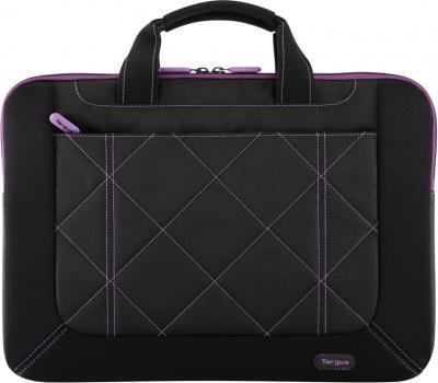 Сумка для ноутбука Targus Pulse Black-Purple (TSS57401EU-50) - фронтальный вид