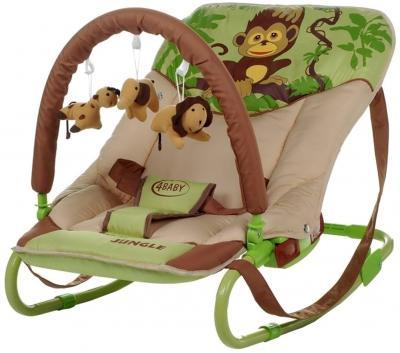 Детский шезлонг 4Baby Jungle Monkey - общий вид