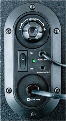 Мультимедиа акустика Sven MS-102 (черный) - вид сзади