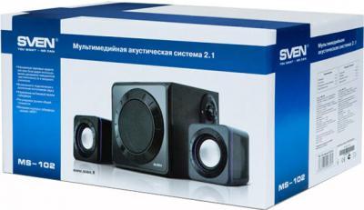Мультимедиа акустика Sven MS-102 (черный) - упаковка