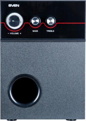 Мультимедиа акустика Sven MS-309 (черный) - вид спереди