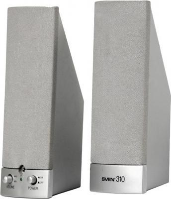 Мультимедиа акустика Sven 310 Silver - общий вид