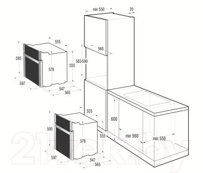 Электрический духовой шкаф Gorenje BO87W