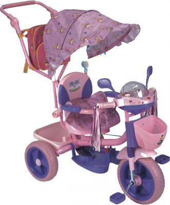 Детский велосипед с ручкой Elite Cycle ЕТ128В-18 Розовый - диски колес металлические