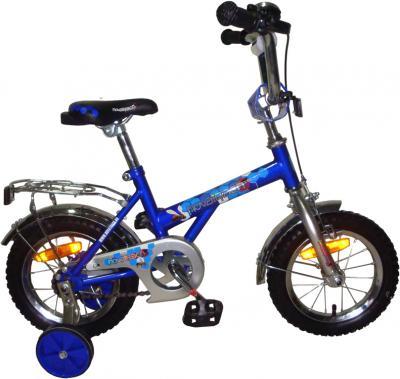 Детский велосипед Novatrack Х24562 Серебристо-синий - общий вид