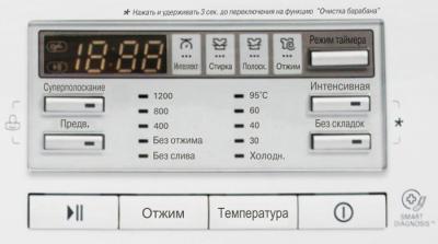 Стиральная машина LG F12B8ND1 - панель управления