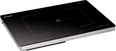 Электрическая настольная плита Oursson IP3300T Black - общий вид