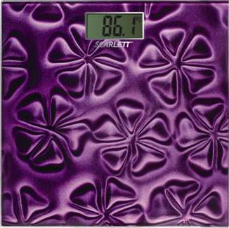 Напольные весы электронные Scarlett SC-2218 Purple - общий вид