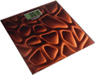 Напольные весы электронные Scarlett SC-2218 Dark Brown (темно-коричневый) - общий вид