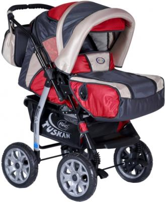 Детская универсальная коляска Riko Tuskan (Warm Red) - общий вид