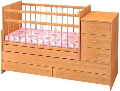 Детская кроватка Бэби Бум Варвара (бук) - общий вид