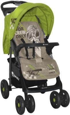 Детская прогулочная коляска Lorelli Foxy (Caramel Green Pilot ) - общий вид