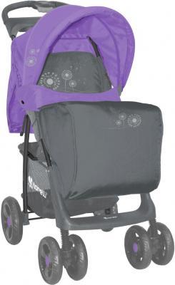 Детская прогулочная коляска Lorelli Foxy (Gray Violet Dandelion) - чехол для ног