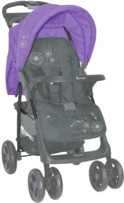 Детская прогулочная коляска Lorelli Foxy (Gray Violet Dandelion) - общий вид