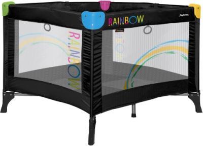 Игровой манеж Bertoni Play Station Black Rainbow - общий вид