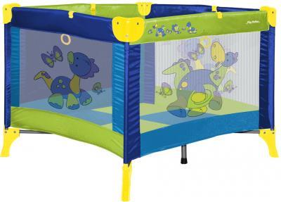 Игровой манеж Lorelli Play Station Dinos Blue - общий вид