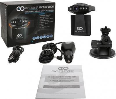 Автомобильный видеорегистратор GoClever DVR HD WIDE - комплект