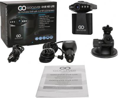 Автомобильный видеорегистратор GoClever DVR HD LITE - комплектация