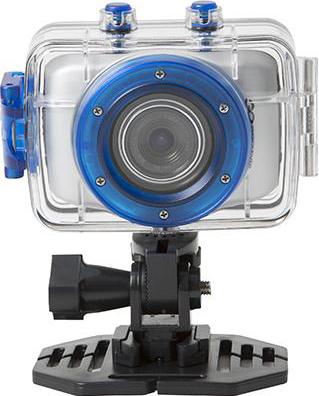 Автомобильный видеорегистратор GoClever DVR SPORT SILVER - общий вид с креплением
