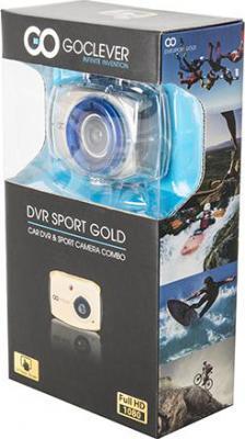 Автомобильный видеорегистратор GoClever DVR SPORT GOLD - коробка
