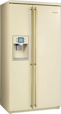 Холодильник с морозильником Smeg SBS8003P - общий вид