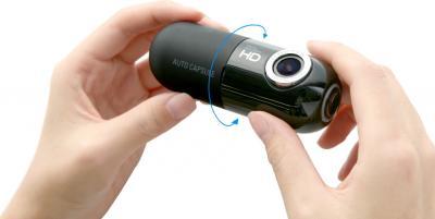 Автомобильный видеорегистратор Cowon AC1 - общий вид (поворот камеры)