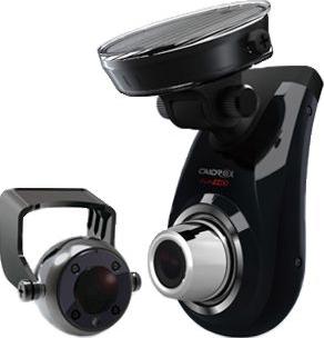 Автомобильный видеорегистратор Caidrox CD-5000 (2 канала) - общий вид с дополнительной камерой