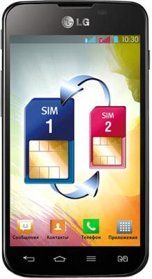 Смартфон LG E455 Optimus L5 II Dual Black-Blue - общий вид