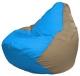 Бескаркасное кресло Flagman Груша Мини Г0.1-271 (голубой/темно-бежевый) -