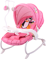 Детский шезлонг Lorelli Dream Time Pink Penguin (10110061620) -