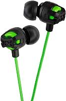 Наушники-гарнитура JVC HA-FR201-G (черный/зеленый) -