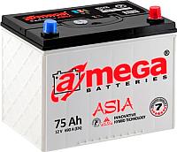 Автомобильный аккумулятор A-mega Asia 6СТ-75-А3 JR (75 А/ч) -