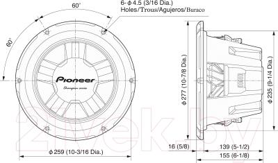 Головка сабвуфера Pioneer TS-W261D4