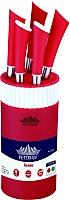 Набор ножей Peterhof PH-22373 (красный) -